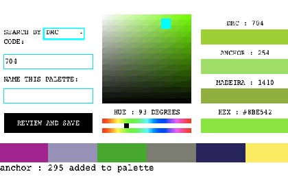 User-defined palettes